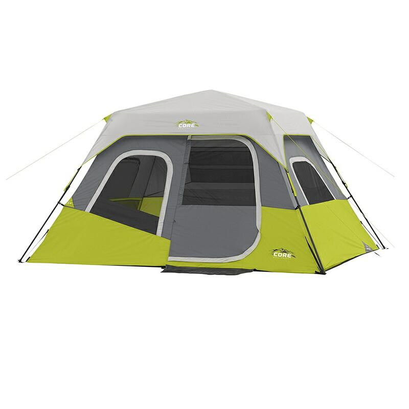 輸入テント コアエクイップメント テント 輸入 大型テント 6人用 インスタントキャビン テント CORE 6 Person Instant Cabin Tent - 3.35m x 2.74m