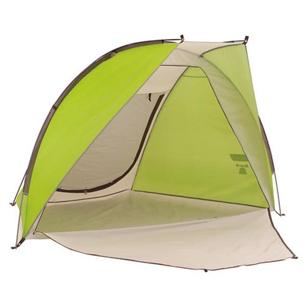 輸入テント グリーン コールマン コンパクト ビーチシェード 海で山 川 公園で 紫外線防止 シェードシェルター テント