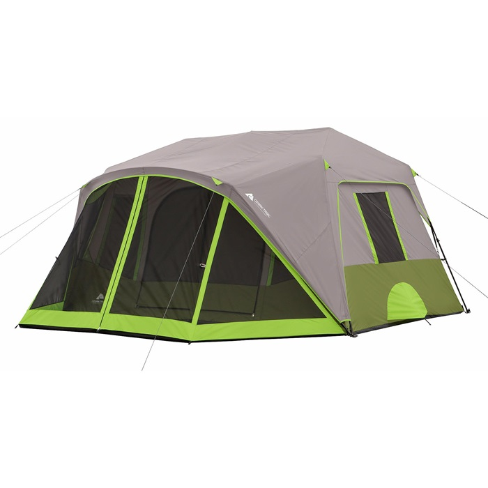 アウトドア 輸入 テント ファミリー オザークトレイル 9人用 インスタント キャビン スクリーンルーム付き Ozark Trail 9 Person 2 Room Instant Cabin Tent with Screen Room