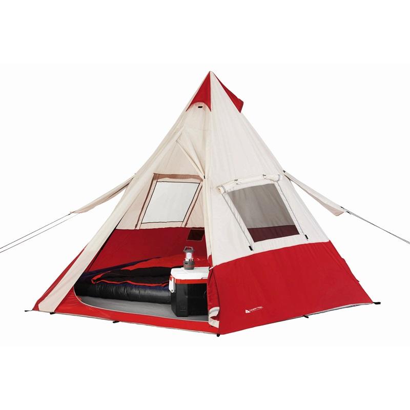 【5%オフクーポン発行中】アウトドア 輸入 テント ファミリー オザークトレイル ティーピー 7人用 円錐形 Ozark Trail 3.6m x 3.6m Teepee Tent