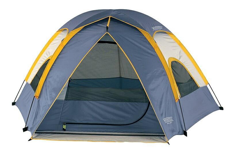 輸入テント ウェンゼル Wenzel テント アルペン 3ポール3人用 ペンタ ドームテント 8.5 X 8-Feet Dome Tent (Light Grey/Blue/Gold)