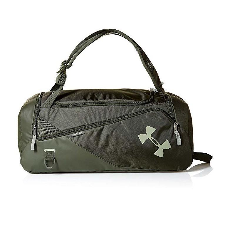 【フライデイセール:11%オフクーポン発行中】アンダーアーマー バッグ バックパック ダッフルバッグ レディース メンズ Under Armour UA Contain Backpack/Duffel  Artillery Green (357)/Moss Green