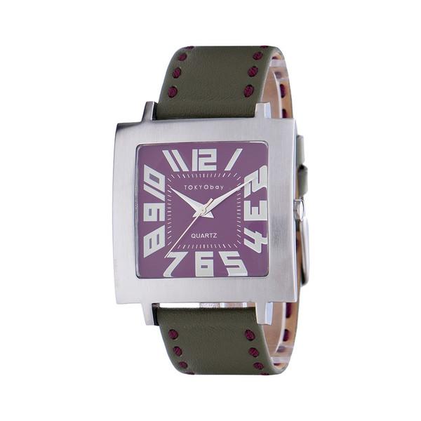 20%オフクーポン+キャッシュレス5%還元 メンズ 腕時計 アナログウォッチ 人気 トーキョーベイ プレゼント ウォッチ クラシック トラムステッチ T106-GR グリーン 本革バンド