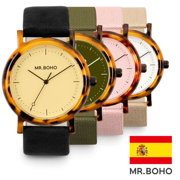 腕時計 MR.BOHO ミスターボーホー ACETATE アセテート メンズ レディース ユニセックス 腕時計 男女兼用