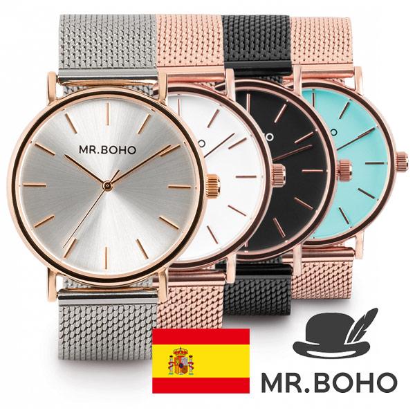 国内正規品 スペインブランド 腕時計 MR.BOHO ミスターボーホー METALLIC CADET メタリック カデット ユニセックス 腕時計