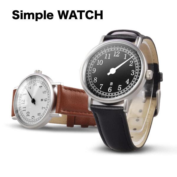 送料無料 シンプル メンズ 腕時計 1本針 ウォッチ/あす楽