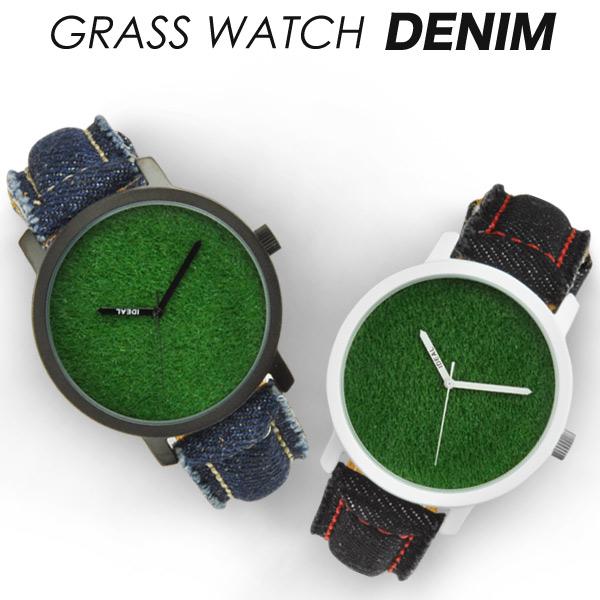 芝生腕時計 GRASS WATCH DENIM グラスウォッチ デニム メンズ腕時計 デザインウォッチ iDEALTIME イデアルタイム mens 腕時計 あす楽