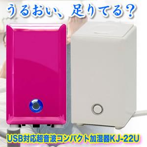 CCP USB対応超音波コンパクト加湿器 KJ-22U 持ち運べるうるおい 格安 価格でご提供いたします マラソン201302_趣味 風邪 ウイルス対策※ご注文後2~3日後の出荷となります 好評受付中