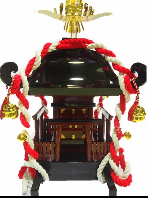 子供神輿 おみこし (普及型)軽量・木製・担ぎ棒・休憩台付子供用おみこし(地域によって異なる送料別途・お問合せください。)