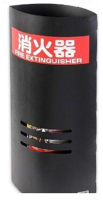 テクテク 32010-10 【10個セット品】消火器マスク黒 10個セット 10型消火器用消火器カバー 消火器マスク 3201010