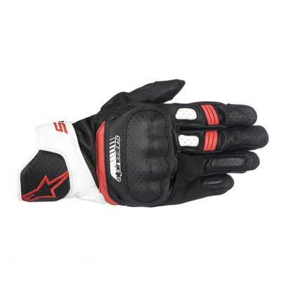 アルパインスターズ alpinestars 8021506615002 SP-5 LEATHER GLOVE 123 BLACK WHITE RED 2XL