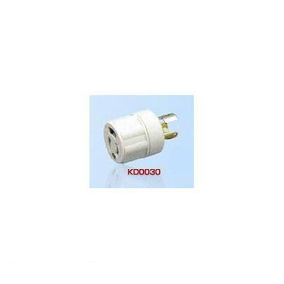 アメリカン電機 KD0030 【10個入】 アダプター 引掛形→抜止 白