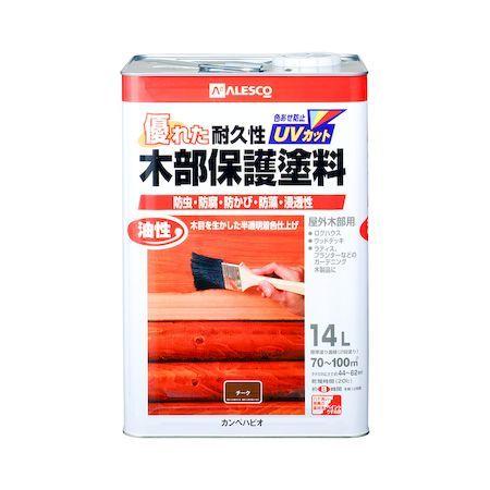 カンペハピオ 00237643511140 油性木部保護塗料 チーク 14L