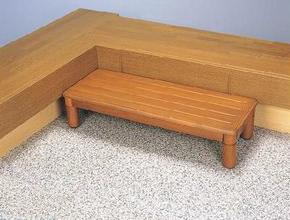 DL84756 木製玄関ステップ1段ワイド 幅90cm