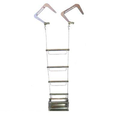 【個数:1個】ORIRO 松本機工 WIRE5-JIZAI 直送 代引不可・他メーカー同梱不可 避難はしご ワイヤーロープ式【自在フック仕様】 5型 WIRE5JIZAI