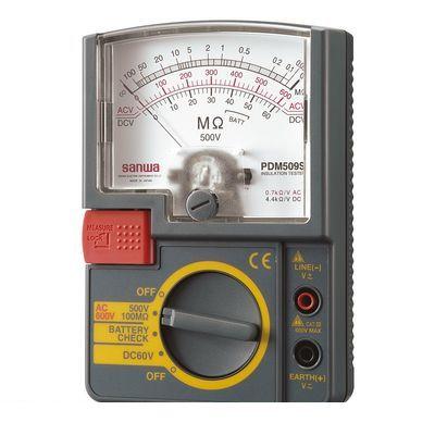【予約受付中】【4月下旬以降入荷予定】sanwa 三和電機計器 PDM509S アナログ絶縁抵抗計