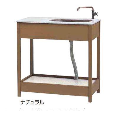 【個人宅配送不可】タカショー TAKASHO 15288900 直送 代引不可・他メーカー同梱不可 エバーエコウッド ガーデンシンク3型 幅広タイプ ECS-3