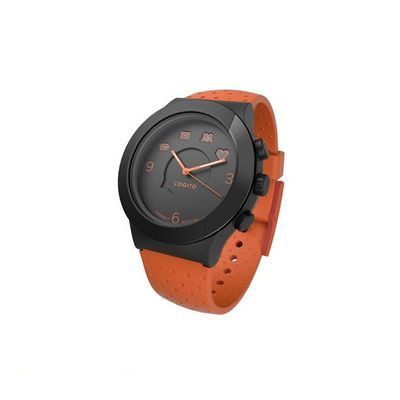 CONNECTEDEVICE 4562187616819 Bluetooth SMART対応アナログ腕時計 COGITO FIT ORANGE BLACK