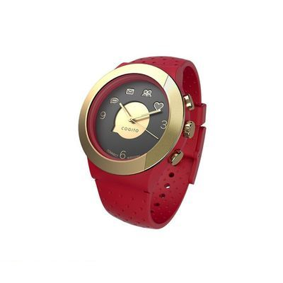 CONNECTEDEVICE 4562187616826 Bluetooth SMART対応アナログ腕時計 COGITO FIT RED GOLD
