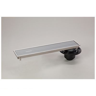 シマブン HRAB-15L450 直送 代引不可・他メーカー同梱不可 小川くん 排水ユニット樹脂グレーチング浅型 防水縦引き グレー 幅144×長さ444 HRAB15L450