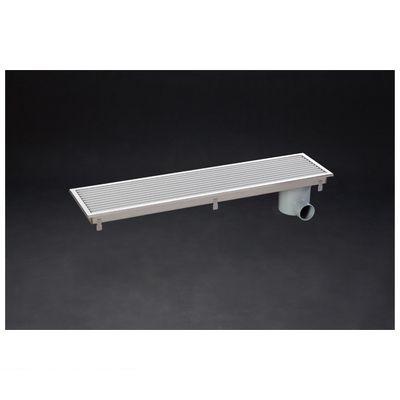 シマブン HRAY-15L450 直送 代引不可・他メーカー同梱不可 小川くん 排水ユニット樹脂グレーチング浅型 非防水横引き グレー 幅144×長さ444 HRAY15L450