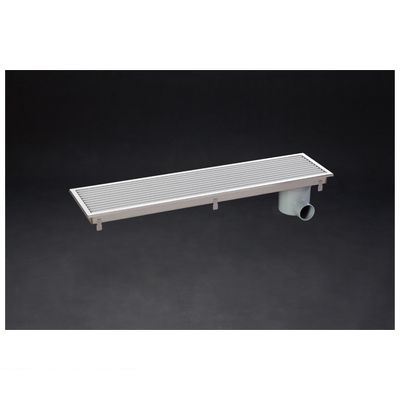 シマブン HRAY-15L600 直送 代引不可・他メーカー同梱不可 小川くん 排水ユニット樹脂グレーチング浅型 非防水横引き グレー 幅144×長さ594 HRAY15L600