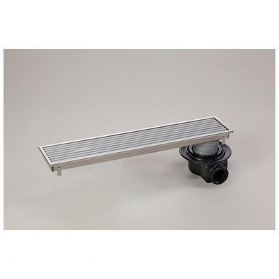 シマブン HRAZ-15L600 直送 代引不可・他メーカー同梱不可 小川くん 排水ユニット樹脂グレーチング浅型 防水横引き グレー 幅144×長さ594 HRAZ15L600