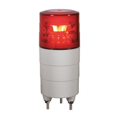 【個数:1個】日恵 VL04M-100BPR 直送 代引不可・他メーカー同梱不可 小型回転灯φ45 ニコミニ【赤・ブザー付】 100V VL04M100BPR