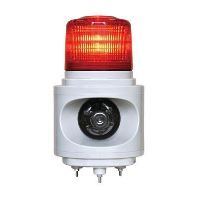 【個数:1個】日恵 VL12V-100AR 直送 代引不可・他メーカー同梱不可 音声合成報知器付LED回転灯 ニコボイス【赤】 AC100V VL12V100AR