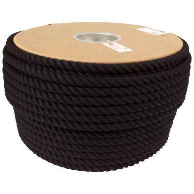 ユタカメイク PRC61 ロープ 綿ロープドラム巻 12φ×100m ブラック