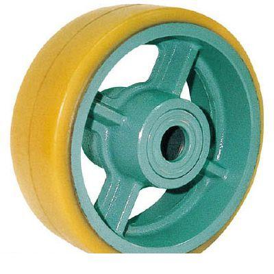 【個数:1個】ヨドノ UHB130X50 鋳物重荷重用ウレタン車輪ベアリング入 UHB130X50