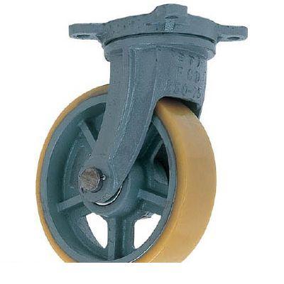UHBG300X100 鋳物重荷重用ウレタン車輪自在車付き 直送 ヨドノ UHBーg300X100 代引不可・他メーカー同梱不可