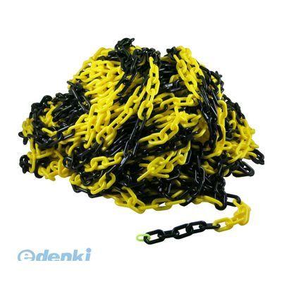 4996368080159 プラスチックチェーン #6 トラ【黄色・黒】 50m