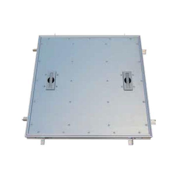 ホーコス TA-1P-750 直送 代引不可・他メーカー同梱不可 アルミ製 フロアーハッチ Pタイル用 750mm角 TA1P750