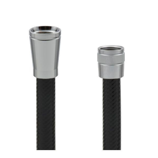 ※アウトレット品 カクダイ GA-FK100 GAONA ガオナ これカモ シャワーホース GAFK100 取替用 ブラック アダプター付 2.5m [再販ご予約限定送料無料] ほとんどのメーカーに対応