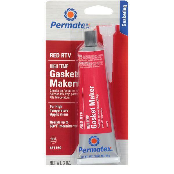 パーマテックス Permatex PTX81160 引き出物 85g 豊富な品 赤 高耐熱レッドRTVシリコン
