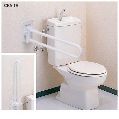 【個人宅配送不可】【個数:1個】矢崎化工 CFA-1A 直送 代引不可・他メーカー同梱不可 可動式手すり はね上げタイプ 色:ホワイト CFA1A