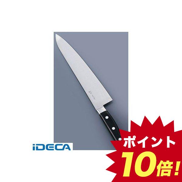 AT34285 堺菊守日本鋼 口金付 牛刀 27