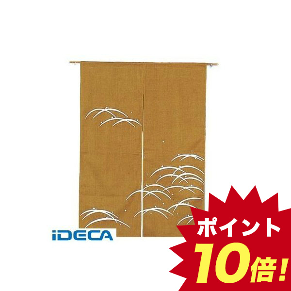 DW20025 露芝 のれん N106-05 金茶 850×1200