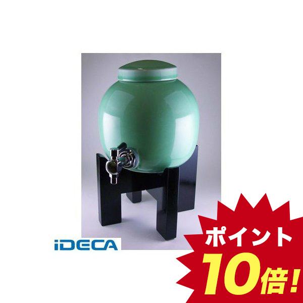 DW75649 焼酎サーバー 黒塗り台セット 青磁