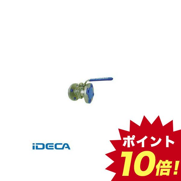 EL31134 ステンレス鋼製1MPaフランジ式2ピースボール弁80A【3】