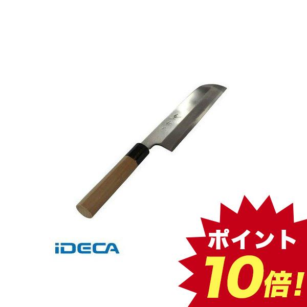 GR37678 兼松作 日本鋼 鎌型薄刃庖丁 19.5