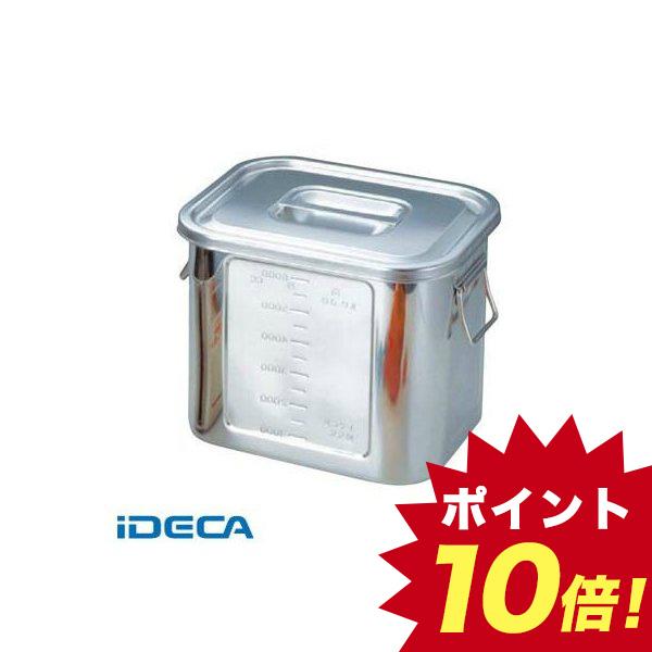 JR15134 BK 18-8 角型 キッチンポット 目盛付 30型 手付