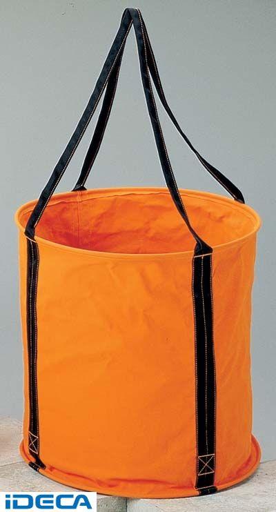 CR12651 6号 オレンジ 防水帆布 大型電工用バケツ直径60cm×高さ60cm