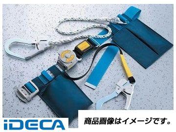 KS46542 一本つり専用 Wランヤード付き巻取り式安全帯 巻取り式+ロープ ライトローラップ