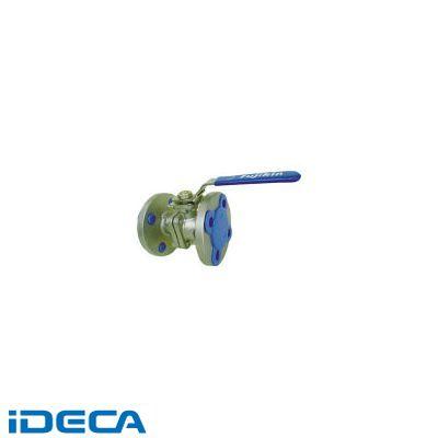 【個数:1個】HV08345 ステンレス鋼製1MPaフランジ式2ピースボール弁100A【4】