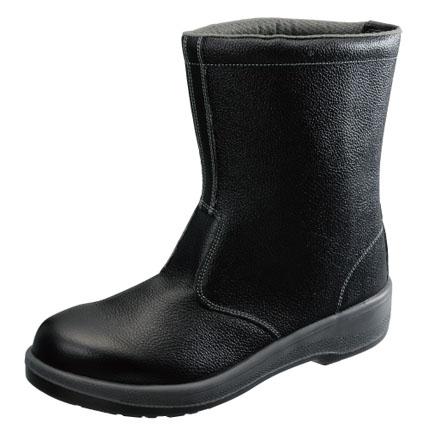 【あす楽対応】KS47276 安全靴 半長靴 7544黒 23.5cm