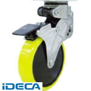 【受注生産品】HS73596「直送」【代引不可・他メーカー同梱不可】 緩衝キャスターS付自在車 100径帯電防止ウレタン車輪