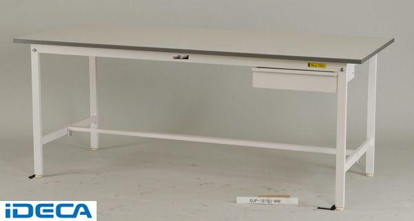 JV47146 「直送」【代引不可・他メーカー同梱不可】 ワークテーブル 150シリーズ (キャビネット付) (W900*D750*H740)