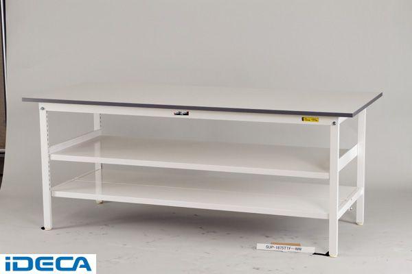 KW86425 「直送」【代引不可・他メーカー同梱不可】 ワークテーブル 150シリーズ (中間棚板付) (W1200*D600*H740)